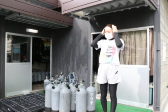 岡本磨歩さん② お仕事編 本部町:ダイビングサービス ジャミング